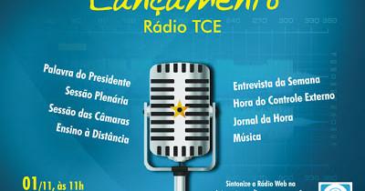 Cartaz Lançamento Rádio TCE
