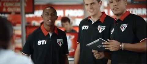 Jogadores do São Paulo estrelam campanha publicitária