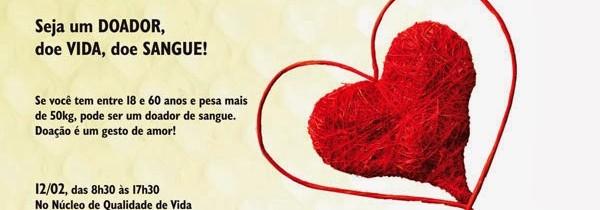 Peça: Campanha de Doação de Sangue 2014