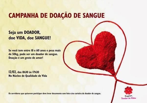 Peça Campanha De Doação De Sangue 2014 Fabiane Mellocombr