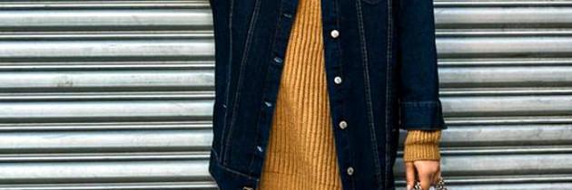 Inspiração da vez: Jaqueta jeans oversize